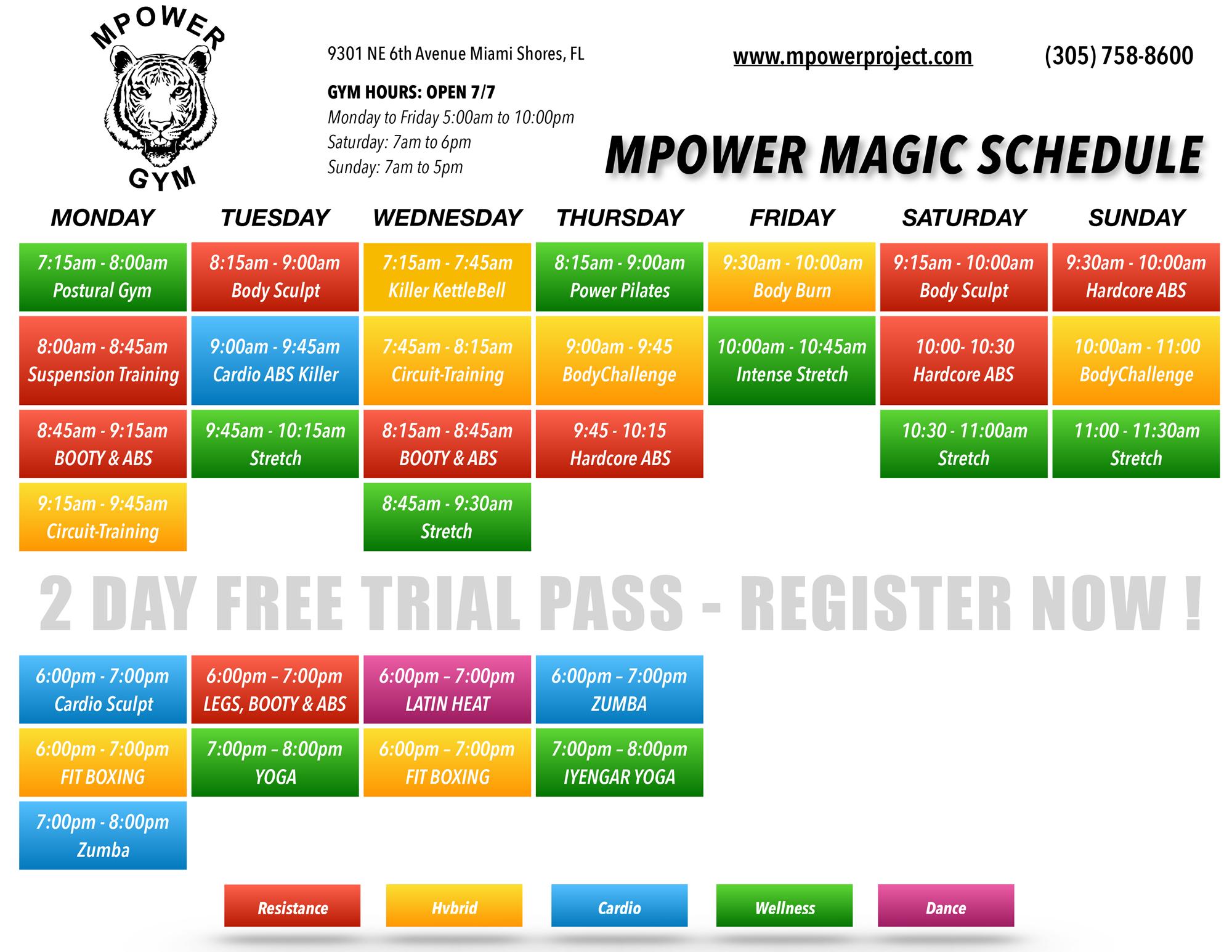 MPower Magic Class Schedule